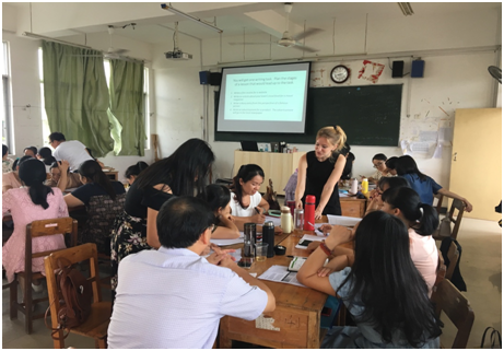 """玉林""""十三五""""名师培养工程项目语言教学实践第三次听评课顺利进行"""