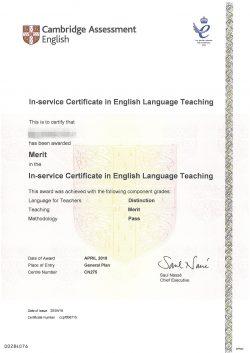 SX ICELT Certificates